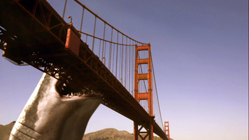 Mega Shark attacks Golden Gate Bridge