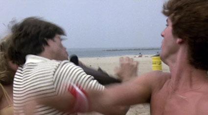 Roller Boogie - fight on beach
