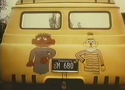 Bert and Ernie on Supervan