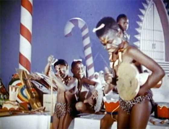 African Kids Dance In Santa Claus 1959