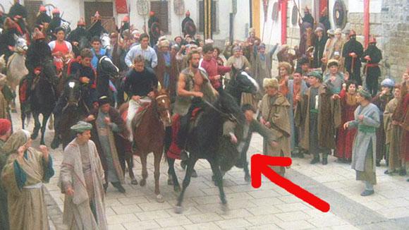 Gymkata horse knocks guy down