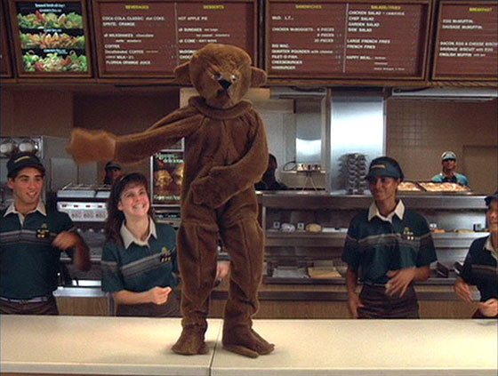 Mac and Me dancing at McDonalds